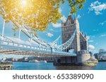 tower bridge in london in a... | Shutterstock . vector #653389090