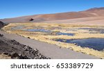 atacama desert is the driest... | Shutterstock . vector #653389729