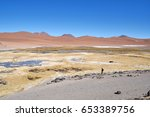 atacama desert is the driest... | Shutterstock . vector #653389756