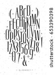 alphabet set gothic font in... | Shutterstock .eps vector #653390398