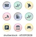 vector illustration set of... | Shutterstock .eps vector #653392828