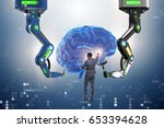 artificial intelligence concept ... | Shutterstock . vector #653394628