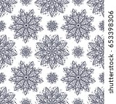 flowers mandala patterns vector ... | Shutterstock .eps vector #653398306