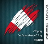 peru independence day patriotic ... | Shutterstock .eps vector #653406646