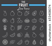 fruit line icon set  food... | Shutterstock .eps vector #653408074