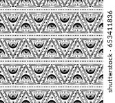 hand draw seamless pattern of... | Shutterstock .eps vector #653411836