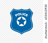 police officer badge icon... | Shutterstock .eps vector #653413930