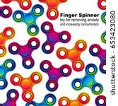 fidget hand finger spinner...   Shutterstock .eps vector #653423080