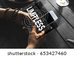 limitless time unlimited... | Shutterstock . vector #653427460