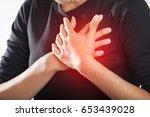 severe heartache  woman...   Shutterstock . vector #653439028