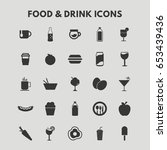 food and drink icons | Shutterstock .eps vector #653439436