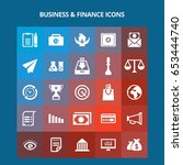 business and finance icons | Shutterstock .eps vector #653444740