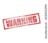 square grunge red top warning...   Shutterstock . vector #653451094