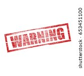 square grunge red top warning...   Shutterstock .eps vector #653451100
