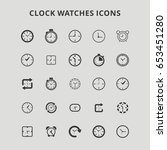 clock watches icons   Shutterstock .eps vector #653451280