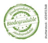 biodegradable grunge stamp.   Shutterstock . vector #653451568