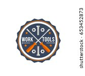 handy service or home repair... | Shutterstock .eps vector #653452873