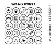 web mix icons | Shutterstock .eps vector #653453044