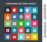 christmas gift box icons | Shutterstock .eps vector #653453950