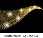abstract golden wave design... | Shutterstock .eps vector #653455366