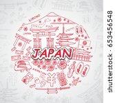 japan icons set. | Shutterstock .eps vector #653456548