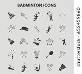 badminton icons | Shutterstock .eps vector #653459860