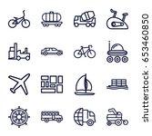 transport icons set. set of 16... | Shutterstock .eps vector #653460850