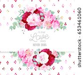 stylish mix of flowers... | Shutterstock .eps vector #653461060