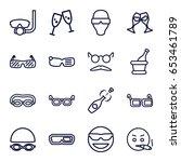 glasses icons set. set of 16... | Shutterstock .eps vector #653461789