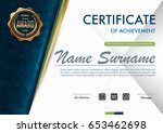 certificate template luxury and ... | Shutterstock .eps vector #653462698