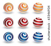 abstract vector spiral ball in... | Shutterstock .eps vector #65346934