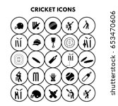 cricket icons | Shutterstock .eps vector #653470606