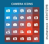 camera icons   Shutterstock .eps vector #653472598