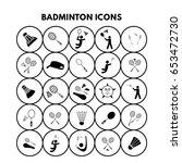 badminton icons   Shutterstock .eps vector #653472730