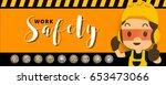 construction worker repairman ... | Shutterstock .eps vector #653473066