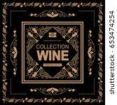 vector vintage frame label for... | Shutterstock .eps vector #653474254
