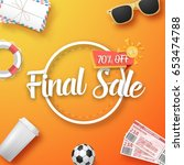 illustration of final sale... | Shutterstock .eps vector #653474788