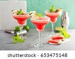 refreshing summer watermelon...   Shutterstock . vector #653475148