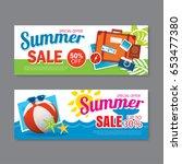 summer sale voucher background... | Shutterstock .eps vector #653477380
