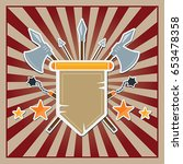rays background with medieval... | Shutterstock .eps vector #653478358