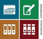 binder icons set. set of 4...