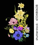 embroidery vintage flowers... | Shutterstock .eps vector #653480638