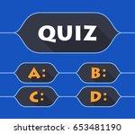 quiz flat concept. vector... | Shutterstock .eps vector #653481190