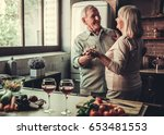beautiful senior couple is... | Shutterstock . vector #653481553
