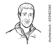 mark zuckerberg hand drawing... | Shutterstock .eps vector #653482360