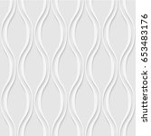 seamless pattern of wavy lines. ... | Shutterstock .eps vector #653483176