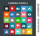 camera icons | Shutterstock .eps vector #653488438