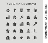 home rent icons | Shutterstock .eps vector #653488483