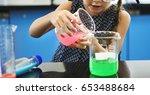 kindergarten student mixing... | Shutterstock . vector #653488684