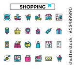 shopping retail shop icon fill...